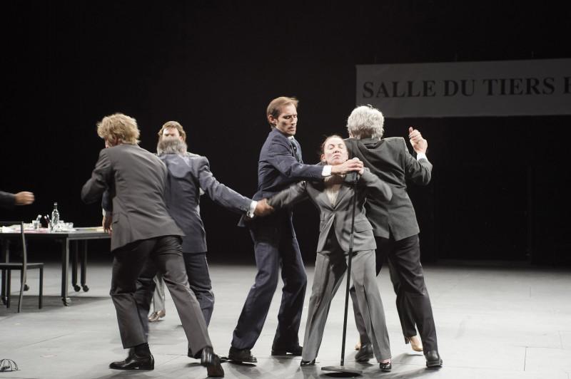 """2015 juin Theatre des Amandiers """"Ça Ira /1 Fin de Louis"""" un spectacle écrit et mis en scène par Joël Pommerat"""