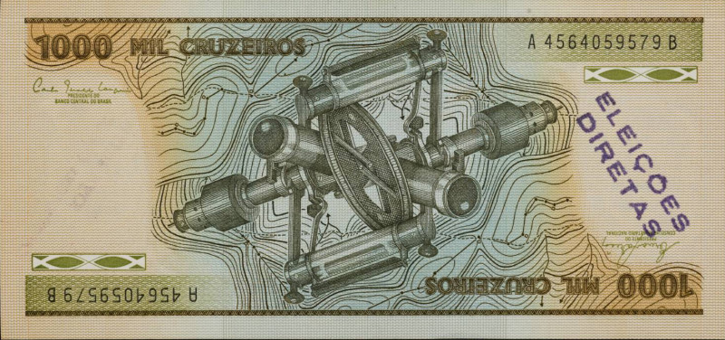 Insertions into Ideological Circuits 2: Banknote Project 1970 by Cildo Meireles born 1948